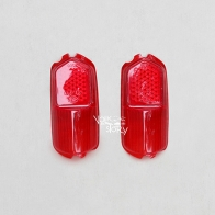 TAIL LIGHT LENS COLOR RED  FOR KARMANN GHIA 58 - 59 /